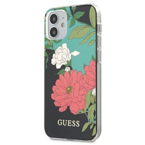 Guess iPhone 12 mini 5,4 Hülle N1 Flower Collection GUHCP12SIMLFL01
