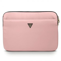 """Guess  Notebook / Tablet Hülle Sleeve 13"""" pink Triangle Logo GUCS13NTMLLP"""