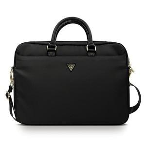 "GUESS Notebook / Laptop Tasche 16"" Nylon Triangle Logo schwarz GUCB15NTMLBK"