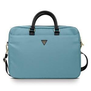 "GUESS Notebook / Laptop Tasche 16"" Nylon Triangle Logo blau GUCB15NTMLLB"