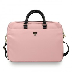 "GUESS Notebook / Laptop Tasche 16"" Nylon Triangle Logo pink GUCB15NTMLLP"