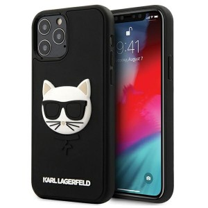 Karl Lagerfeld iPhone 12 Pro Max 6,7 Hülle 3D Rubber Choupette Schwarz