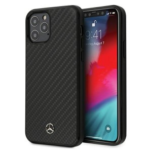 Mercedes iPhone 12 / 12 Pro 6,1 Carbon Hülle / Cover / Case / Etui