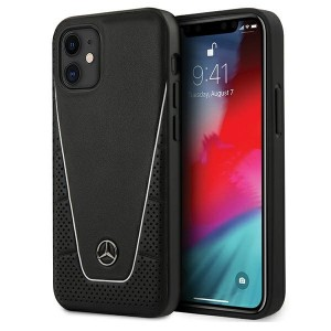 Mercedes iPhone 12 mini 5,4 Lederhülle Dynamic Line schwarz MEHCP12SCLSSI