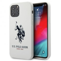 US Polo iPhone 12 Pro Max 6,7 Hülle Weiß Silikon USHCP12LSLHRWH