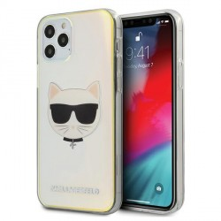 Karl Lagerfeld iPhone 12 / 12 Pro 6,1 Hülle Multicolor Iridescent Choupette