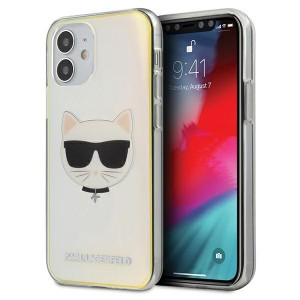 Karl Lagerfeld iPhone 12 mini 5,4 Hülle Multicolor Iridescent Choupette