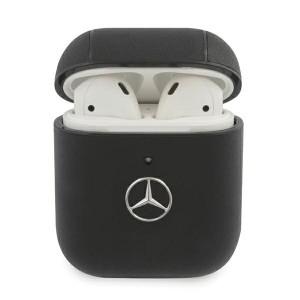 Mercedes AirPods 1 / 2 Echtleder Cover schwarz Electronic Line MEA2CSLBK