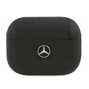 Mercedes AirPods Pro Echtleder Cover / Case / Hülle schwarz