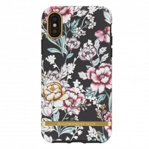 Richmond & Finch iPhone Xs / X Cover Black Floral pink