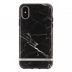 Richmond & Finch iPhone Xs Max Cover Black Marble Silver detail schwarz
