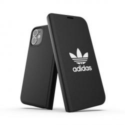 Adidas iPhone 12 / 12 Pro OR Booklet Case / Tasche BASIC schwarz / weiß