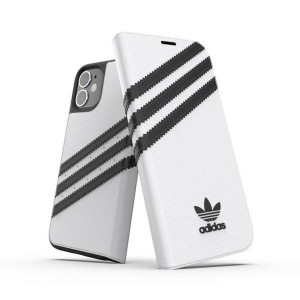 Adidas iPhone 12 mini OR Booklet Case PU white black
