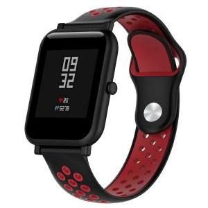 Beline Silikon Armband Watch Active / 3 20 mm Huawei GT 2 Garmin Vivomove, Vivoactive Schwarz Rot