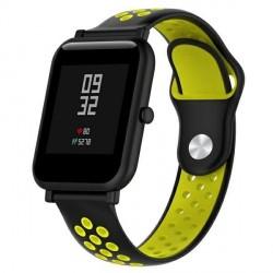 Beline Silikon Armband Watch Active / 3 20 mm Huawei GT 2 Garmin Vivomove, Vivoactive Schwarz Gelb