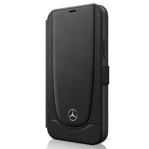 Mercedes iPhone 12 / 12 Pro Ledertasche schwarz Urban Line MEFLBKP12MARMBK