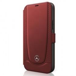 Mercedes iPhone 12 / 12 Pro 6,1 Ledertasche Rot Urban Line MEFLBKP12MARMRE