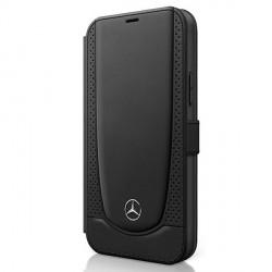 Mercedes iPhone 12 mini 5,4 Ledertasche schwarz Urban Line MEFLBKP12SARMBK