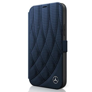 Mercedes iPhone 12 mini 5,4 Ledertasche navy Bow Line MEFLBKP12SDIQNA