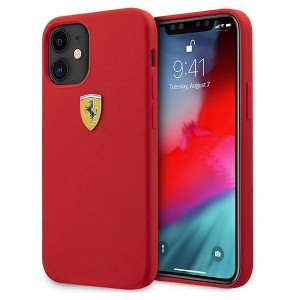 Ferrari iPhone 12 mini 5,4 On Track Silicone Hülle Rot FESSIHCP12SRE