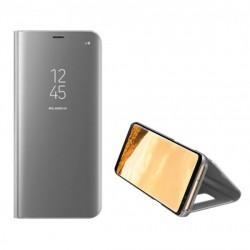 Handytasche Samsung A42 A426 Clear View Case silber