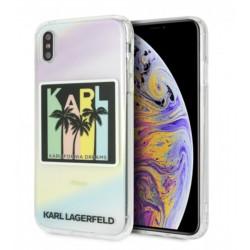 Karl Lagerfeld Silikon Cover / Hülle für iPhone Xs Max Druck